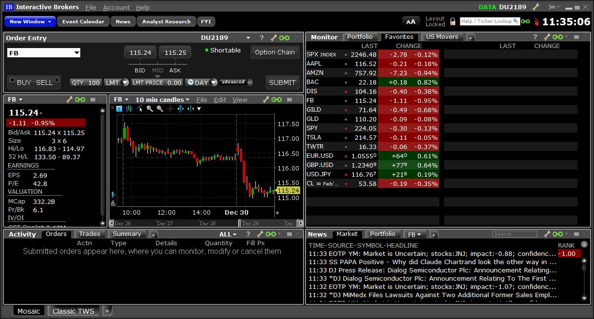 Trader débutant sur Interactive Brokers